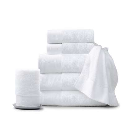 Wholesale 100% Cotton customized  cheap white hotel towel